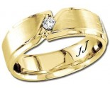 Diamond Wedding Band 14K Yellow Gold 0.10 cts DYWB-2852