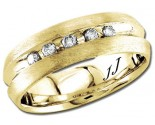 Diamond Wedding Band 14K Yellow Gold 0.20 cts DYWB-2854