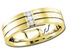 Diamond Wedding Band 14K Yellow Gold 0.15 cts DYWB-2855