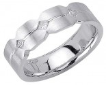 Diamond Wedding Band 14K White Gold 0.21 cts. DWB-2856