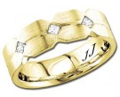 Diamond Wedding Band 14K Yellow Gold 0.21 cts DYWB-2856