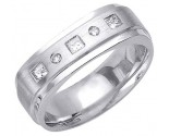 Diamond Wedding Band 14K White Gold 0.30 cts. DWB-2857