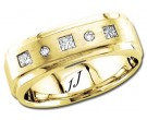 Diamond Wedding Band 14K Yellow Gold 0.30 cts DYWB-2857