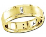 Diamond Wedding Band 14K Yellow Gold 0.24 cts DYWB-2858