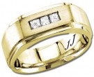 Diamond Wedding Band 14K Yellow Gold 0.34 cts DYWB-2859