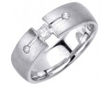 Diamond Wedding Band 14K White Gold 0.27 cts. DWB-2861
