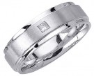 Diamond Wedding Band 14K White Gold 0.07 cts. DWB-2952
