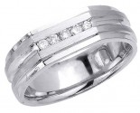 Diamond Wedding Band 14K White Gold 0.15 cts. DWB-2953