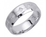 Diamond Wedding Band 14K White Gold 0.21 cts. DWB-2955