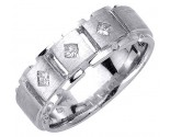 Diamond Wedding Band 14K White Gold 0.21 cts. DWB-2956