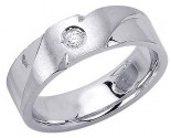 Diamond Wedding Band 14K White Gold 0.08 cts. DWB-2957