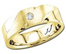 Diamond Wedding Band 14K Yellow Gold 0.08 cts DYWB-2957