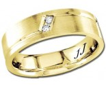 Diamond Wedding Band 14K Yellow Gold 0.10 cts DYWB-2958