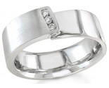 Diamond Wedding Band 14K White Gold 0.09 cts. DWB-2959