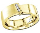 Diamond Wedding Band 14K Yellow Gold 0.09 cts DYWB-2959