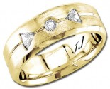 Diamond Wedding Band 14K Yellow Gold 0.28 cts DYWB-2960