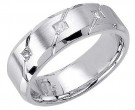 Diamond Wedding Band 14K White Gold 0.21 cts. DWB-2961