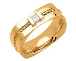 Diamond Wedding Band 14K Yellow Gold 0.18 cts. DYWB-3012
