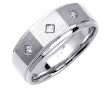 Diamond Wedding Band 14K White Gold 0.18 cts. DWB-3051