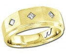Diamond Wedding Band 14K Yellow Gold 0.18 cts DYWB-3051