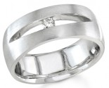 Diamond Wedding Band 14K White Gold 0.08 cts. DWB-3052