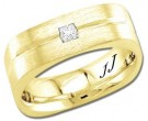Diamond Wedding Band 14K Yellow Gold 0.15 cts DYWB-3053