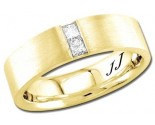 Diamond Wedding Band 14K Yellow Gold 0.24 cts DYWB-3054