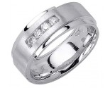Diamond Wedding Band 14K White Gold 0.28 cts. DWB-3055