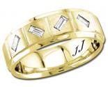 Diamond Wedding Band 14K Yellow Gold 0.31 cts DYWB-3056
