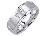 Diamond Wedding Band 14K White Gold 0.24 cts. DWB-3057