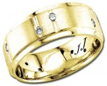 Diamond Wedding Band 14K Yellow Gold 0.24 cts DYWB-3057