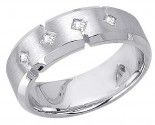 Diamond Wedding Band 14K White Gold 0.24 cts. DWB-3151
