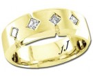 Diamond Wedding Band 14K Yellow Gold 0.24 cts DYWB-3151
