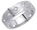 Diamond Wedding Band 14K White Gold 0.25 cts. DWB-3152