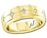 Diamond Wedding Band 14K Yellow Gold 0.25 cts DYWB-3152