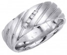 Diamond Wedding Band 14K White Gold 0.08 cts. DWB-3153