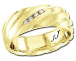 Diamond Wedding Band 14K Yellow Gold 0.08 cts DYWB-3153