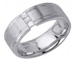 Diamond Wedding Band 14K White Gold 0.28 cts. DWB-3155
