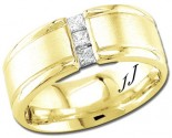 Diamond Wedding Band 14K Yellow Gold 0.28 cts DYWB-3155