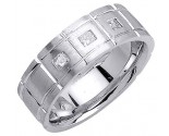 Diamond Wedding Band 14K White Gold 0.21 cts. DWB-3156