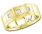 Diamond Wedding Band 14K Yellow Gold 0.21 cts DYWB-3156