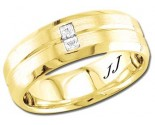 Diamond Wedding Band 14K Yellow Gold 0.14 cts DYWB-3157