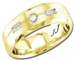 Diamond Wedding Band 14K Yellow Gold 0.20 cts DYWB-3159