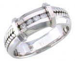 Diamond Wedding Band 14K White Gold 0.12 cts. DWB-3251
