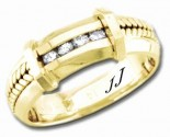 Diamond Wedding Band 14K Yellow Gold 0.12 cts DYWB-3251