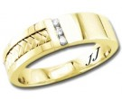 Diamond Wedding Band 14K Yellow Gold 0.09 cts DYWB-3254
