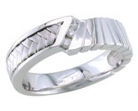 Diamond Wedding Band 14K White Gold 0.09 cts. DWB-3256