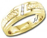 Diamond Wedding Band 14K Yellow Gold 0.09 cts DYWB-3258