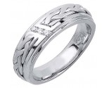 Diamond Wedding Band 14K White Gold 0.09 cts. DWB-3260