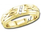 Diamond Wedding Band 14K Yellow Gold 0.09 cts DYWB-3260